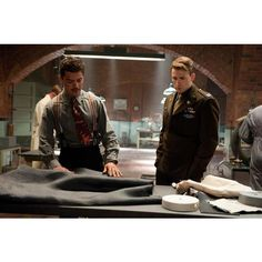 Howard Stark and Steve Rogers.jpg ❤ liked on Polyvore featuring avengers, captain america and marvel