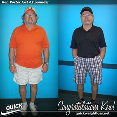 """Congratulations to Ken Porter from Fort Pierce, Florida for losing 62 pounds on the Quick Weight Loss Centers program!  """"I loved the daily and weekly guidance of the Quick Weight Loss staff, structuring my diet with 'real' food and educating me on eating the right items. Now that I have reached my goal, I feel like I'm 25 years younger. This is right at the top for the single best thing I ever did for myself!"""" -Ken.  #qwlc #weightloss"""