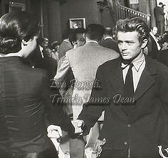James Dean on the set of Giant