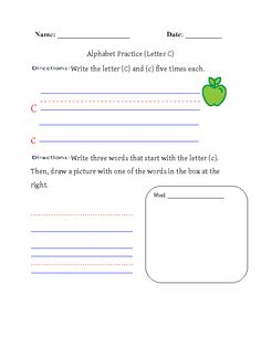 Alphabet Letters Worksheets Englishlinx Board