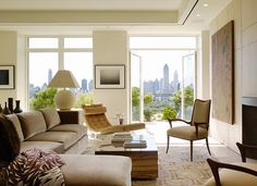 Orlando Diaz-Azcuy Design Associate   Contemporary setting...love the artwork...the view...the chaise...