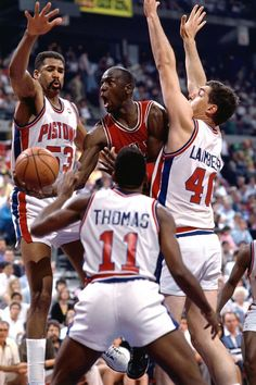 MJ vs. Pistons - Bad Boys, bad boys, whatcha gonna do? #NBA
