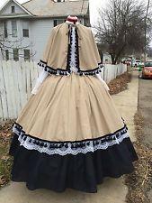 Civil War Victorian Dickens Dress Costume Cape, Skirt,  Overskirt  New
