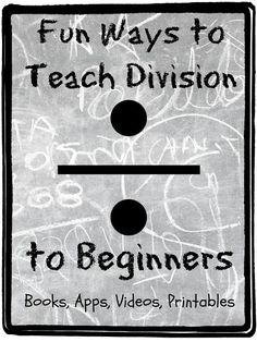 Elementary Division Teaching Ideas - including a list of sites with printables focused on division