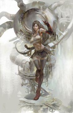 Final Fantasy VII, SquareSoft, Art by apollyon_abyss. Tifa Final Fantasy, Final Fantasy Girls, Final Fantasy Artwork, Final Fantasy Characters, Final Fantasy Vii Remake, Fantasy Series, Tifa Ff7 Remake, Character Art, Character Design