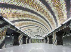 Fovam ter Szent Gellert ter metrostations - Budapeste, Hungria