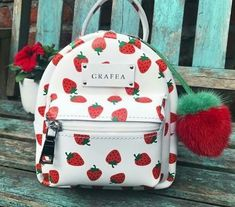 Image shared by Just trendy girls. Find images and videos about grafea backpack on We Heart It - the app to get lost in what you love. Cream Backpacks, Cute Mini Backpacks, Stylish Backpacks, Girl Backpacks, Mini Mochila, Grafea Backpack, Backpack Purse, Fashion Bags, Fashion Backpack