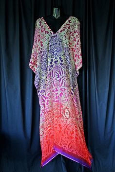Gorgeous Floaty Silk Chiffon Kaftan by MollyKaftans on Etsy, $169.00