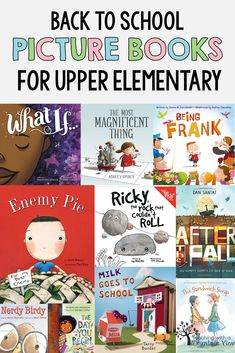 I love using picture books during the back to school season in upper elementary. They are a great way to build community, teach procedures, give short character education lessons and so much more. Check out my list of the BEST picture books that students Upper Elementary, Elementary Schools, Elementary Teaching Ideas, Montessori Elementary, Character Education Lessons, Teaching Procedures, Back To School Pictures, Read Aloud Books, Back To School Activities
