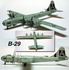 Boeing B-29 Superfortress Heavy Bomber Free Aircraft Paper Model Download