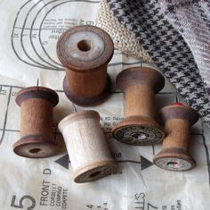 Wooden Spool Push Pins...So great on a Burlap covered cork board!