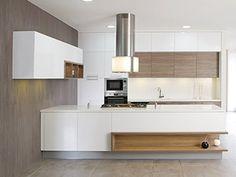 Línea Fusión. Cocina de Madeval que asesoran no solo en la fabricación sino en el diseño de cocinas.  Edición 49  CLAVE!