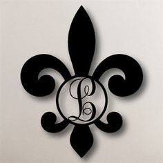 Single Initial Fleur-de-Lis - Circle Monogram