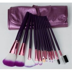 12pcs Professional Cosmetic Makeup Make up Brush Brushes Set With Purple Bag Case, http://www.amazon.com/dp/B00920R8QI/ref=cm_sw_r_pi_awd_6BNBsb1RG976E