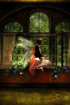 ☆ Fairy Haven - Deatil Art- By Artist Lindsay Coffman ☆