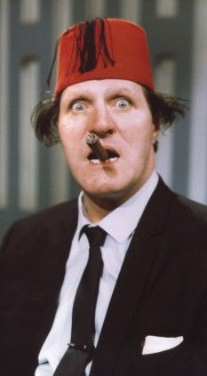 In this hilarious recollection of his friend Tommy Cooper, CLEMENT FREUD recalls a genius - and his one-liners - who could reduce us to tears of laughter . British Comedy, British Actors, Tommy Cooper, Comedy Actors, Classic Comedies, Laurel And Hardy, Classic Tv, Famous Faces, Funny People