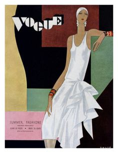 Vogue cover, June 1929 by William Bolin. @designerwallace