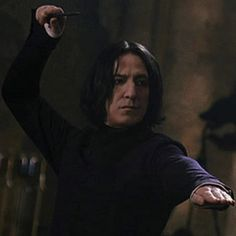 """2002 - Alan Rickman as Professor Severus Snape - This shot is from """"Harry Potter and the Chamber of Secrets."""""""