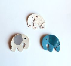 "elephant brooch handmade animal elephant leather. Length 2.3 ""(6 cm) The height of 2"" (5 cm). Ready to Ship! Funny elephant brooch. (14.00 USD) by jewelryleather"