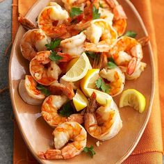 Easy Marinated Shrimp Scampi for Two, perfect for Vday & a great cocktail hour snack!
