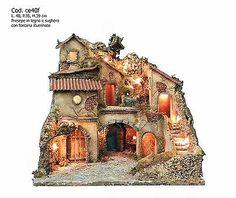 Presepe presepio artigianale napoletano San Gregorio Armeno CE40F 40X35X39H CM