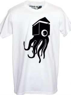 """Men's """"Classic C Monster"""" Tee by Casas Ink (White)"""