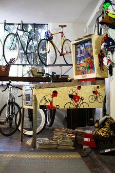 Arcade in a Bike Shop