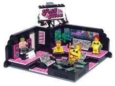 Though not official Lego set by any stretch of the imagination, this set is a custom Lego build for a strip joint called the Foxy Blox. Filled with glint and glam, hologram foil bricks and working lighting, your half naked Lego figs will be paying their way through medical school in no time.
