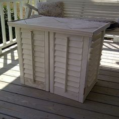 Mom made this out of old shutters :) jlgarvin22