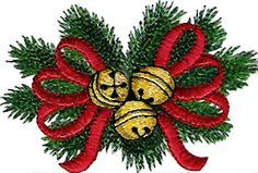 This is a free download for a Christmas machine embroidery design.
