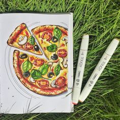 179 Likes, 7 Comments - ART. 179 Likes, 7 Comments - ART. Copic Marker Drawings, Sketch Markers, Copic Markers, Copic Kunst, Copic Art, Pizza Kunst, Marker Kunst, Pizza Art, Illustration Art Nouveau