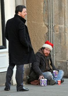 "'Filth'   James McAvoy on the set of his new film ""Filth"" on February 15, 2012 in Edinburgh, UK. The scene involved James McAvoy's character trying to save a dying man.  ( - Photo by FameFlynet Pictures)"
