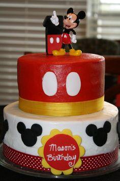 Mickey Mouse 1st birthday cake for Mason