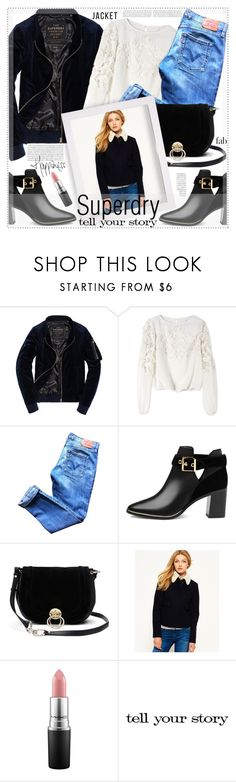"""""""The Cover Up – Jackets by Superdry: Contest Entry"""" by suzanne228 ❤ liked on Polyvore featuring Alice + Olivia, Levi's, Ted Baker, Diane Von Furstenberg, Superdry, MAC Cosmetics, Tim Holtz and MySuperdry"""
