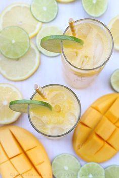 Jus de mangue et citron vert