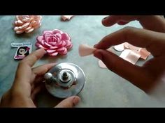 COMO FAZER FLOR DE FITA DE CETIM - FLOR BOLEADA - DIY RIBBON FLOWER - Dani Ferrari - YouTube