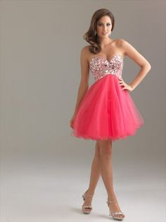 2013 Style A-line Sweetheart  Rhinestone Sleeveless Short / Mini  Tulle  Cocktail Dress / Homecoming Dress $114.99 #MyeSoul