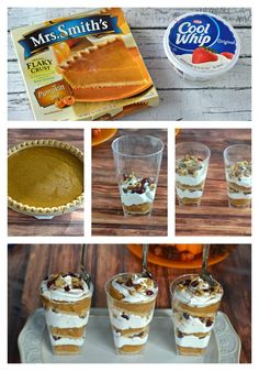 Make a beautiful and easy Pumpkin Pie Parfait with just a few short steps!  This is a delicious recipe for dinner parties or for cooler fall weather.