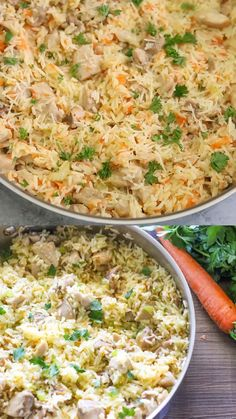 Chicken and Rice Recipe - An easy, healthy dinner made with simple and real ingredients in just one pot. Perfect for any night of the week! dinner vegan One Pot Chicken and Rice Easy Healthy Dinners, Easy Healthy Recipes, Healthy Snacks, Healthy Eating, Chili Recipes, Simple Healthy Dinner Recipes, Healthy Recipes With Chicken, Yummy Healthy Food, Health Food Recipes