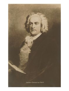 One of classical music's greatest composers, Johann Sebastian Bach, (1685-1750).
