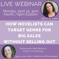 SIGN UP HERE! In this webinar, we're going to look at how to target genre for big sales. All too often writers pen a great novel, but despite tremendous effort and utilizing top marketing...