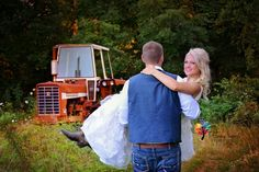 tractor, wedding, bride, groom, country, hunter, wedding, photography, boots, I do, pose