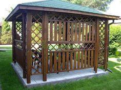 Altana drewniana Ewa 3000 x 3000 Backyard Gazebo, Thing 1, Outdoor Structures, Garden, Courtyards, Garten, Backyard Pavilion, Lawn And Garden, Gardens