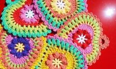 potholders made from the Grandma's heart pattern by Kelly Colver