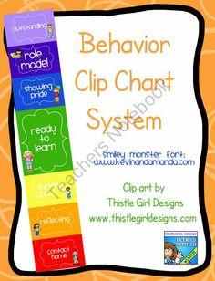 Kids Clip Chart - Behavior Management product from Amy-Alvis on TeachersNotebook.com