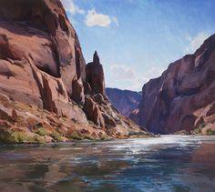 Canyon Drift by Josh Elliott ~ 36 x 40 Paintings I Love, Seascape Paintings, Landscape Art, Landscape Paintings, Desert Landscape, Classical Realism, Southwest Art, Mountain Paintings, Le Far West