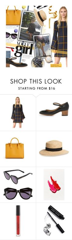 """""""Vogue Girl - exact match"""" by federica-m ❤ liked on Polyvore featuring JOUR/NÉ, A.P.C., BP., Karen Walker, Stila, Bobbi Brown Cosmetics, Butter London, GetTheLook and blogger"""