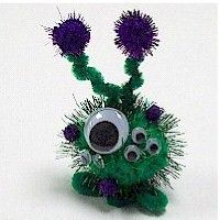 Pom Pom Alien Craft