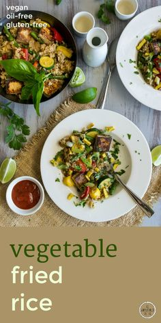 Oil-free, easy to make Vegetable Fried Rice by An Unrefined Vegan. Plant-based, gluten-free.