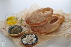 Ka'ak is a popular kind of bread commonly consumed throughout the Middle East. It's made in a handbag or a large ring shape, covered with sesame seeds.